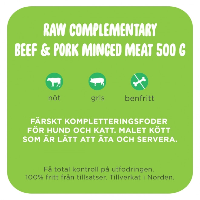 Smaak Raw Complementary Beef & Pork Minced Meat 500 g
