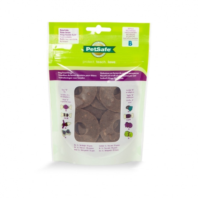 Busy Buddy All Natural Rawhide Treat Rings (M)