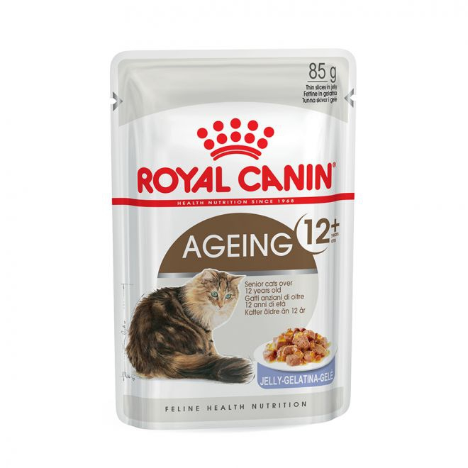 Royal Canin Ageing +12 in Jelly (85 gram)**