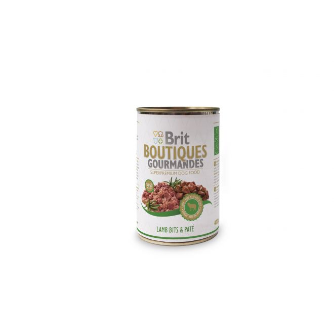 Brit Gourmet Lamb Bits & Paté (400 gram)**