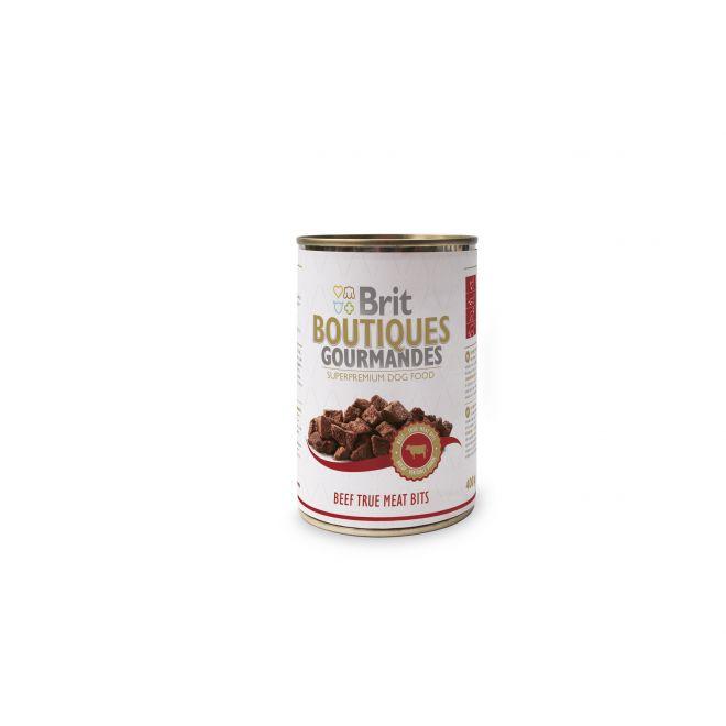 Brit Gourmet Beef True Meat Bits 400g (400 gram)**