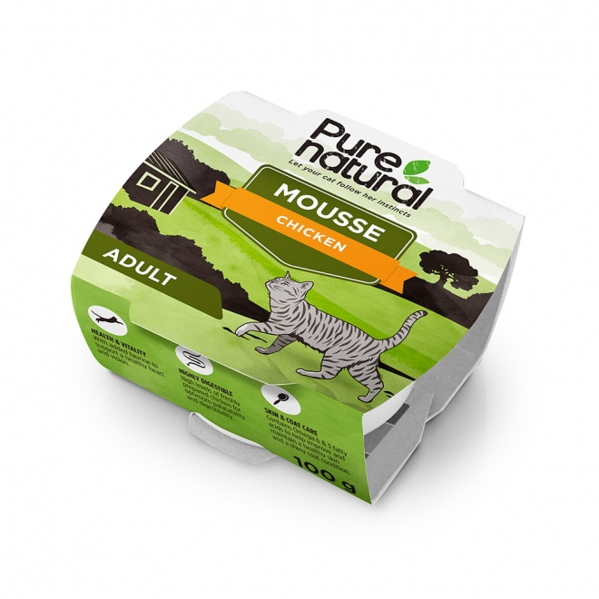 Purenatural Cat Mousse Chicken 100 g