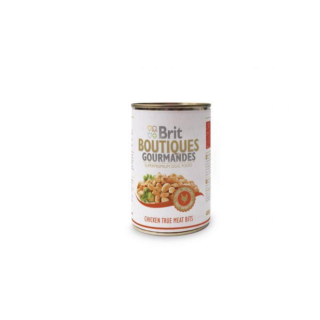Brit Gourmet Chicken True Meat Bits (400 gram)**