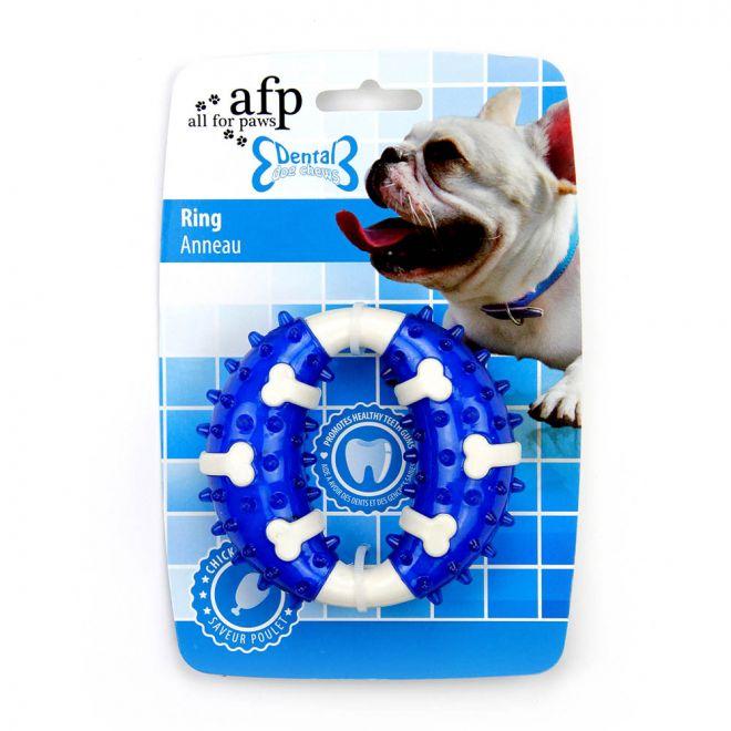 All For Paws Dental Ring Kycklingsmak 10 cm Blå (10 cm)**