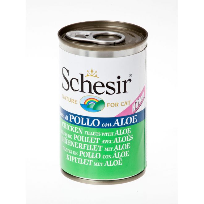 Schesir Kitten Chicken & Aloe (140 gram)