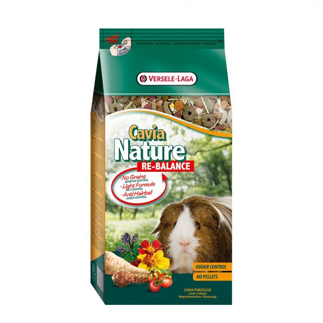 Versele-Laga Cavia Nature Re-Balance Marsvin 700g**