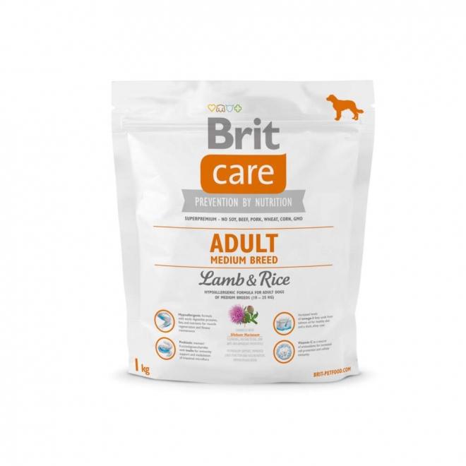 Brit Care Adult Medium Breed Lamb & Rice (1 kg)