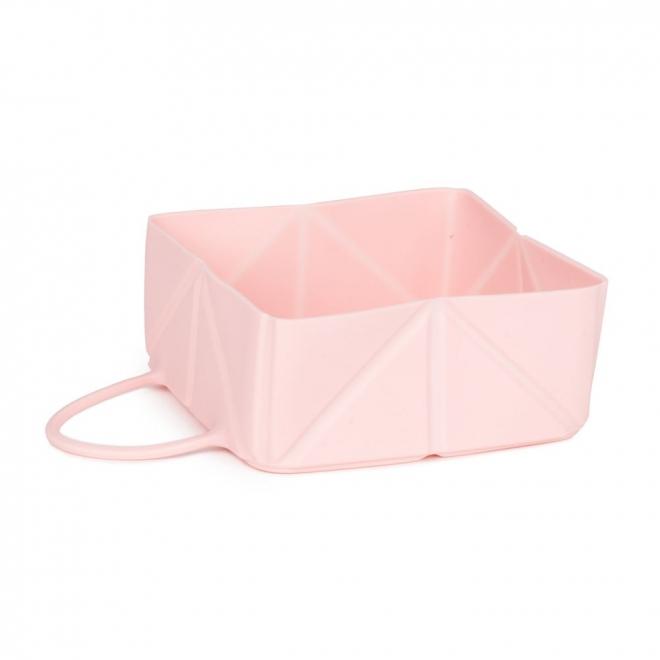 Little & Bigger Fold Silikonskål Rosa