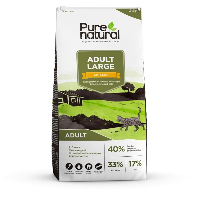 Purenatural Cat Adult Large Chicken (2 kg)