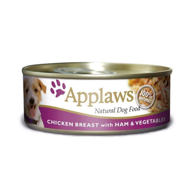 Applaws Dog Kyllingbrbröst, Skinka & Grönsaker (156 gram)**