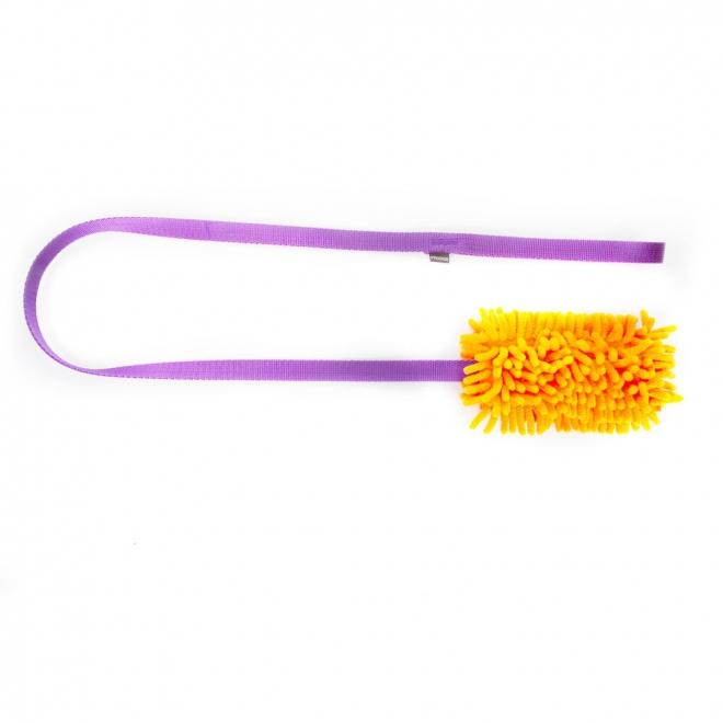 Pro Dog Mop Chaser Toy, oragne och lila