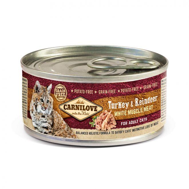 Carnilove Cat Kalkon & Ren (100 gram)**