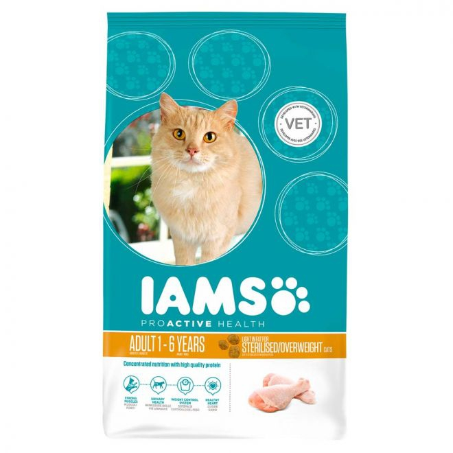Iams Adult Sterilised/Overweight Chicken