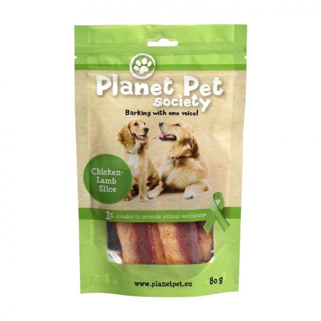 Planet Pet Society Chicken Lamb Slices (80 gram)**