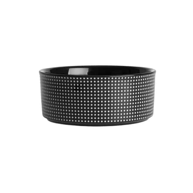 PetRageous Designs Dots Keramiskskål Svart/Vit