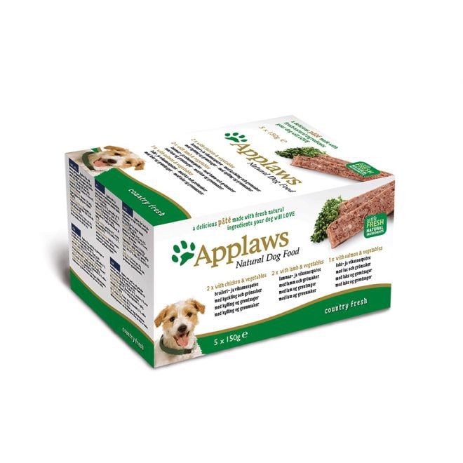 Applaws Dog Multipack Paté Kyckling, Lamm & Lax (5x150g)
