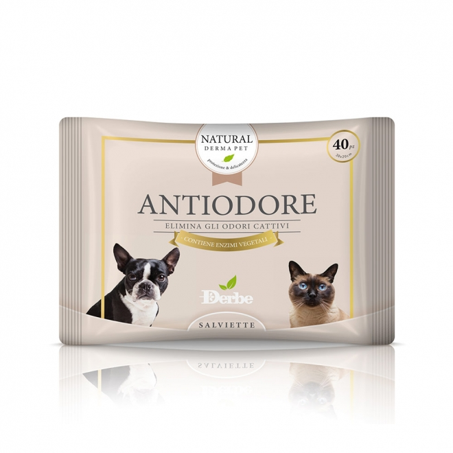 Derbe Antiodore Cleansing Wipes 40 pack