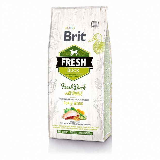 Brit Fresh Duck with Millet Active Run & Work (12 kg)
