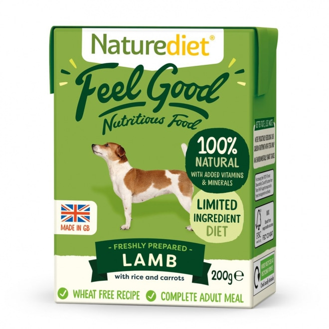 Naturediet Feel Good Lamm (200 gram)