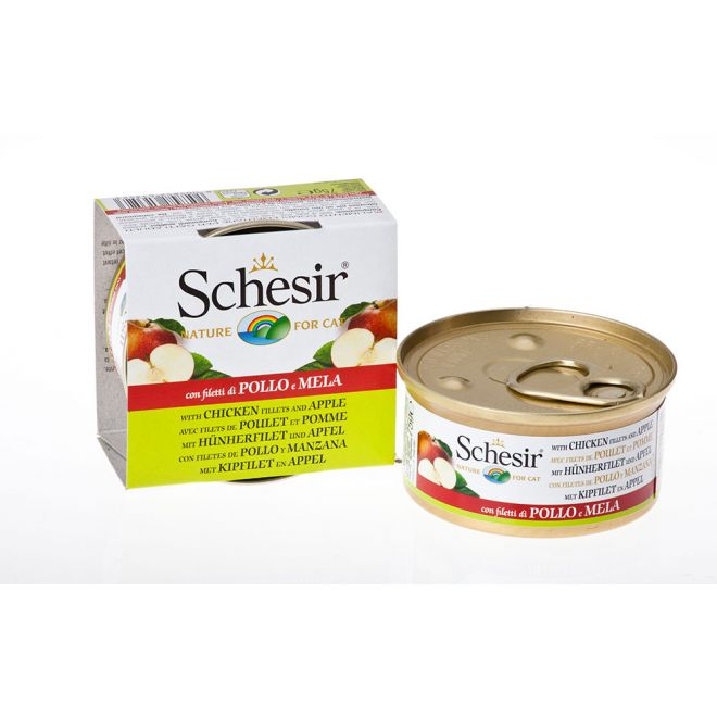 Schesir Kyckling & Äpple (75 gram)**