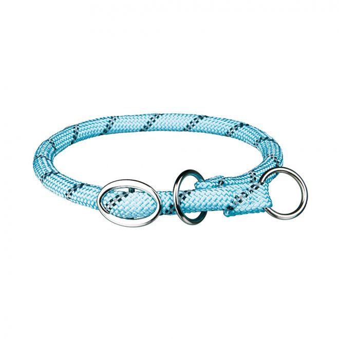 Trixie Sporty Rope Halsband Helstryp Ljusblå**