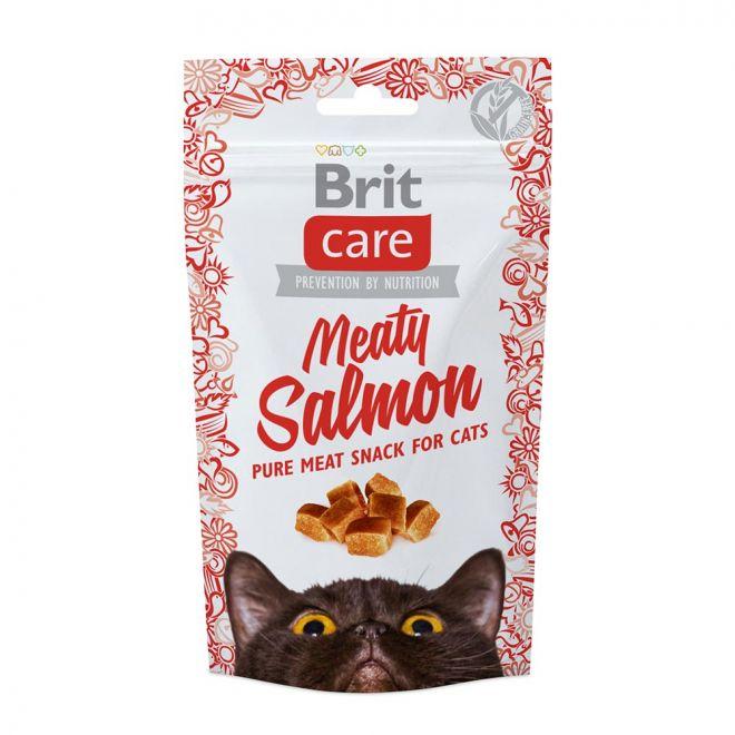 Brit Care Cat Snack Meaty Salmon (50 gram)