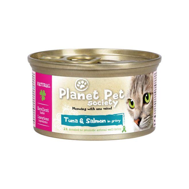 Planet Pet Tonfisk & Lax i sås 85 g (85 gram)