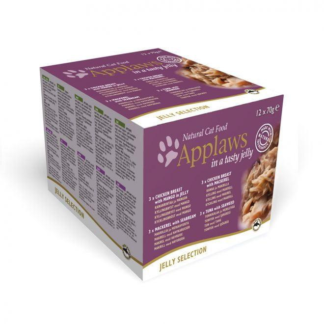 Applaws Cat Kyckling & Fisk i gelé (12 x 70 g)