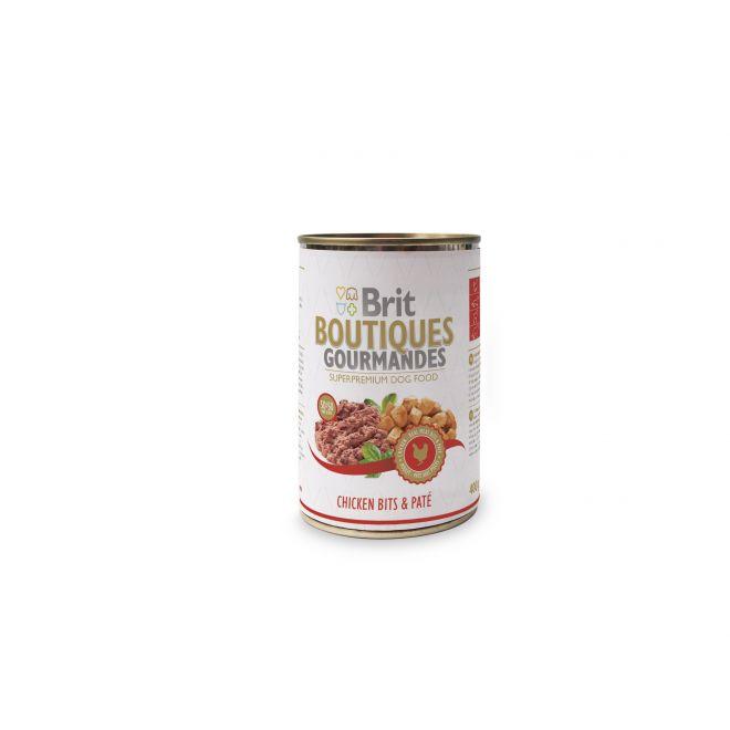 Brit Gourmet Chicken Bits & Paté (400 gram)**