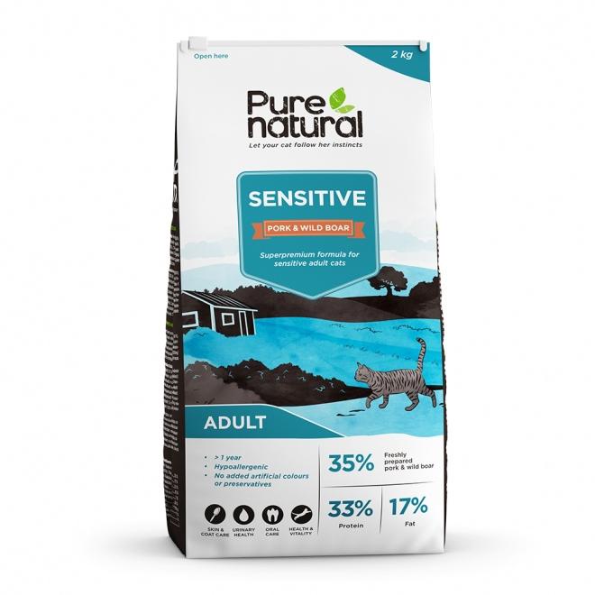 Purenatural Cat Sensitive Pork&Wild Boar (2 kg)
