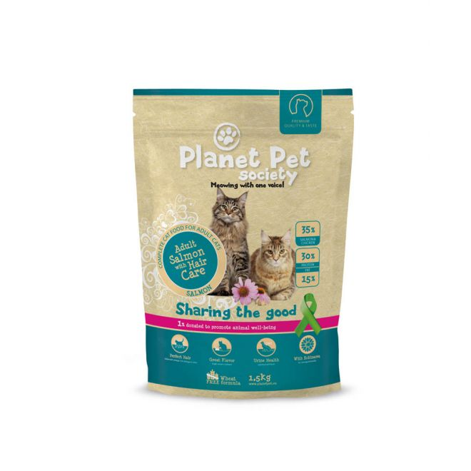 Planet Pet Society Cat Adult Salmon & Hair Care