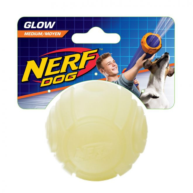 Nerf Tennis Ball Blaster Glow boll ((whitet))