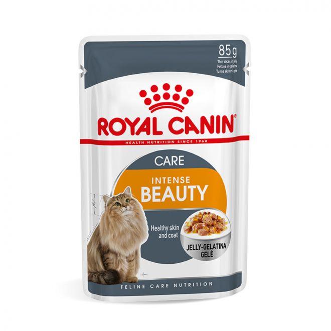 Royal Canin Intense Beauty in Jelly (85 gram)**