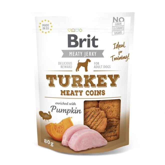 Brit Care Meaty Jerky Coins Turkey (80 g)