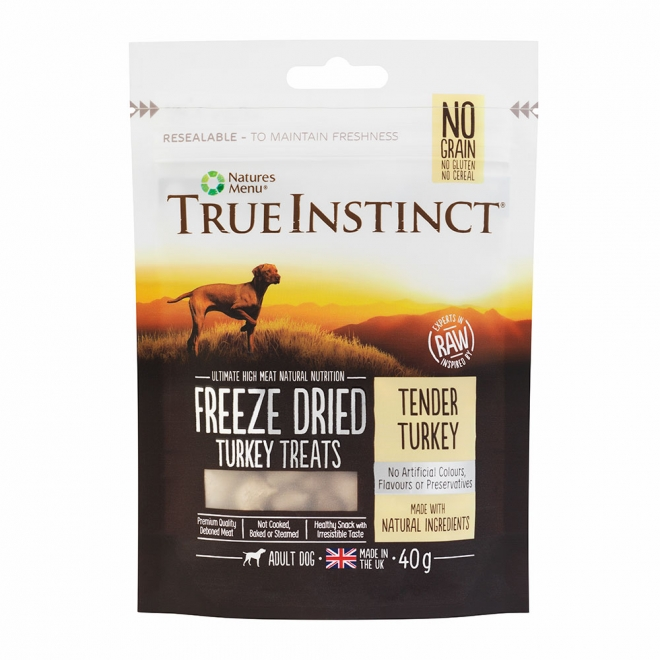 True Instinct Treat Dog Freeze Dried Turkey 40 g