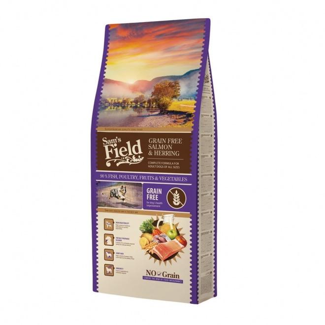 Sam´s Field Adult Grain Free Salmon & Herring (13 kg)