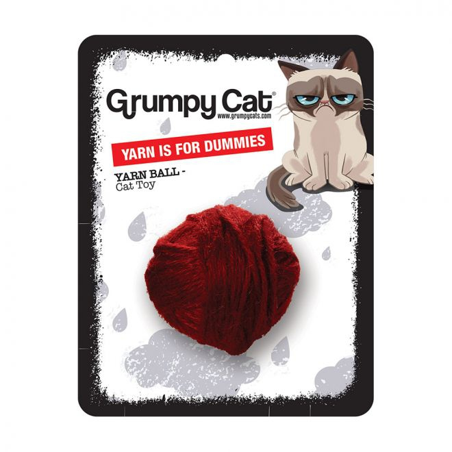 Grumpy Cat Yarn Ball for Dummies (Mångfärgad)