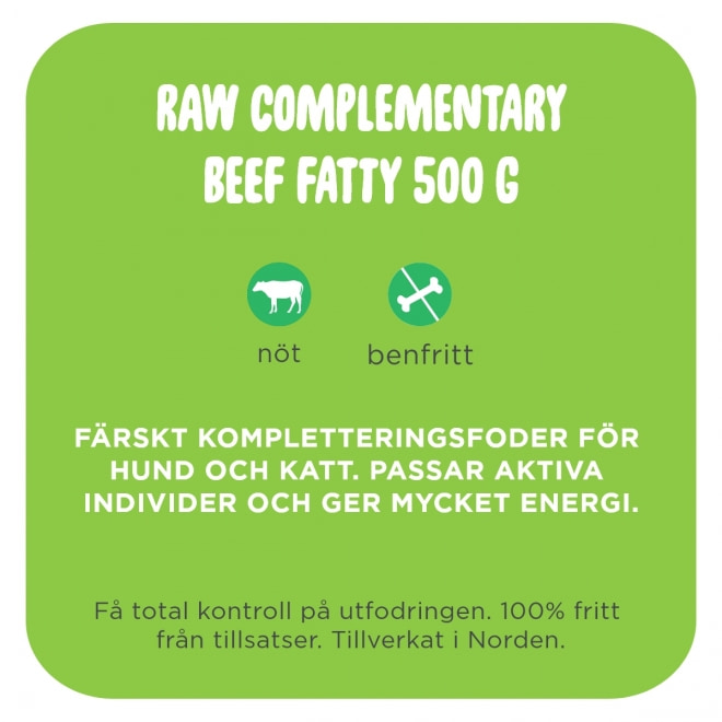 Smaak Raw Complementary Beef Fatty 500 g