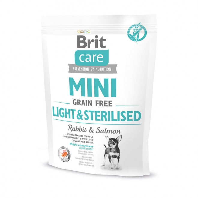 Brit Care Mini Grain Free Light&Sterilised (400 gram)
