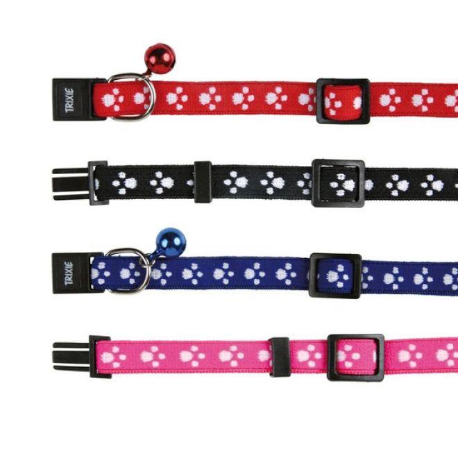 Trixie Pawprint elastiskt halsband (Nylon)