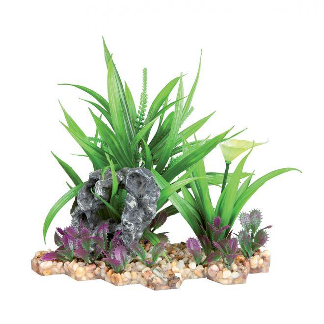 Trixie Plastväxt i Grusbädd