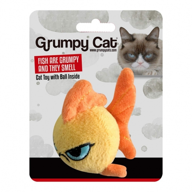Grumpy Cat Goldfish Ball Kattleksak