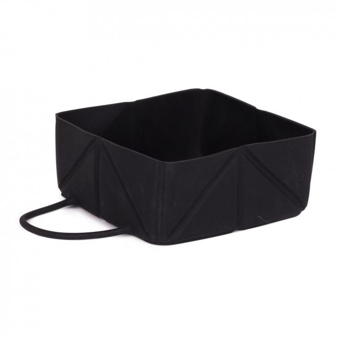 Little & Bigger Fold Silikonskål Black