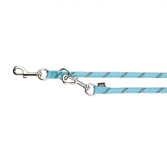 Trixie Sporty Rope Justerbart Koppel Ljusblå