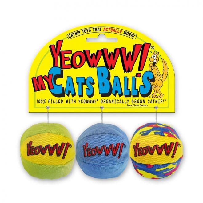 Yeowww! 3 Cat Balls (Mångfärgad)**