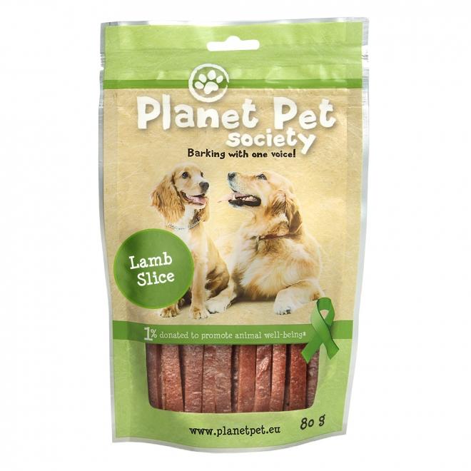 Planet Pet Society Lamb Strips 80 gram