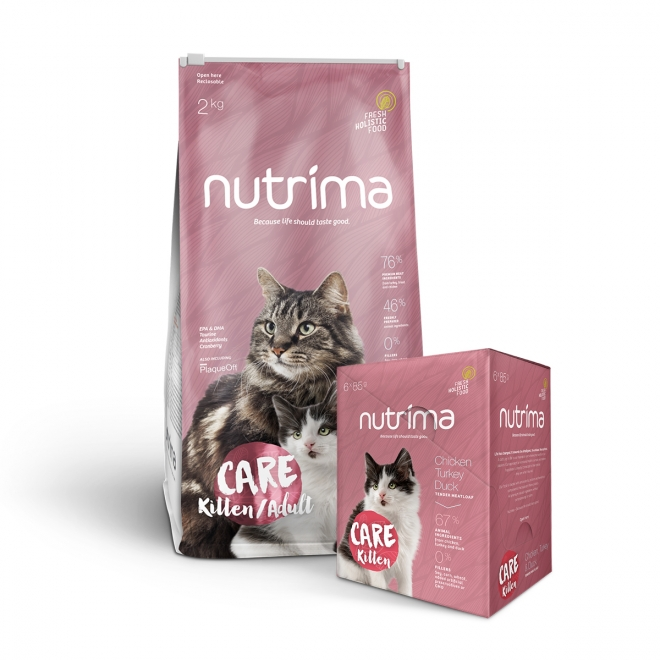 Nutrima Cat Care Kitten 2 kg + Multipack våtfoder