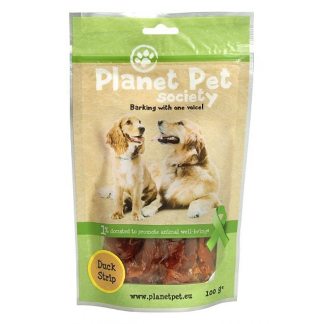 Planet Pet Society Dog Duck Strips (100 gram)