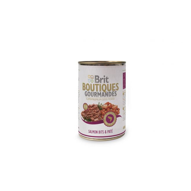 Brit Gourmet Salmon Bits & Paté (400 gram)**