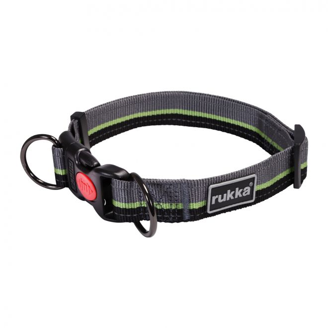 Rukka Bliss Stripe Halsband Lime/Grå**